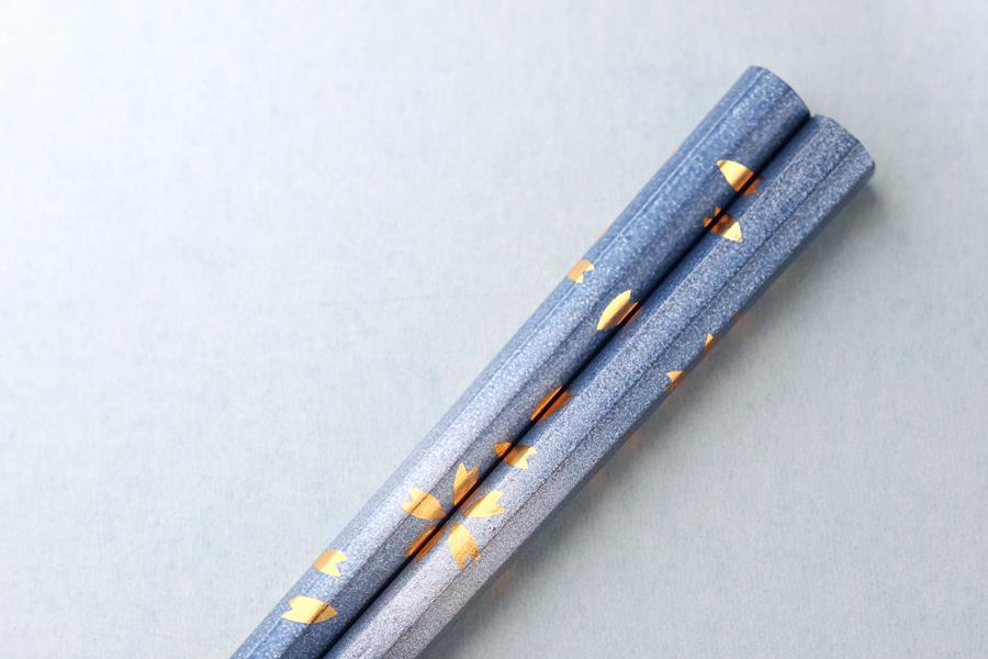 八角桜箸(ブルー)
